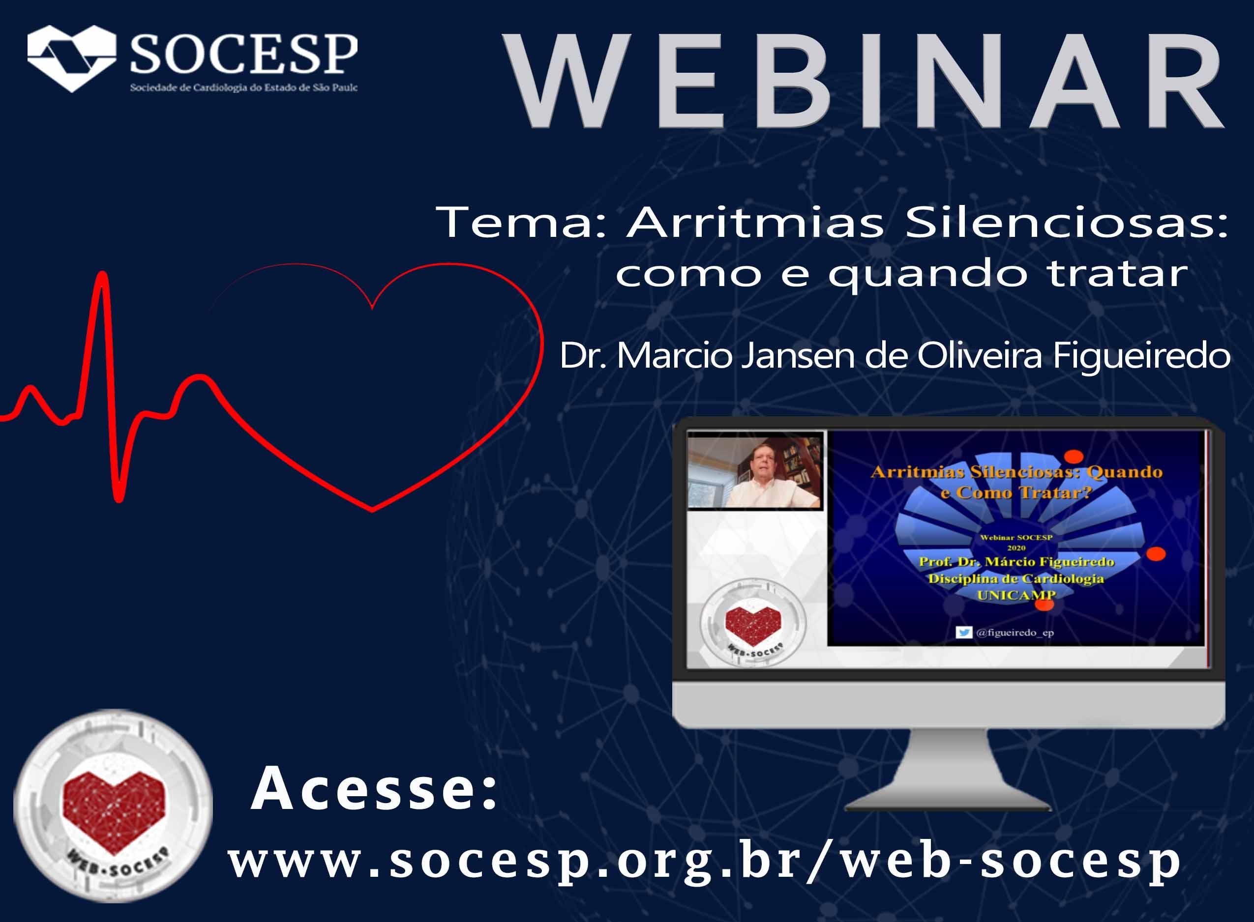 Imagem Webinar: Arritmias Silenciosas: como e quando tratar