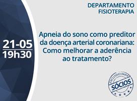 Imagem APNEIA DO SONO COMO PREDITOR DA DOENÇA ARTERIAL CORONARIANA - COMO MELHORAR A ADERÊNCIA AO TRATAMENTO?