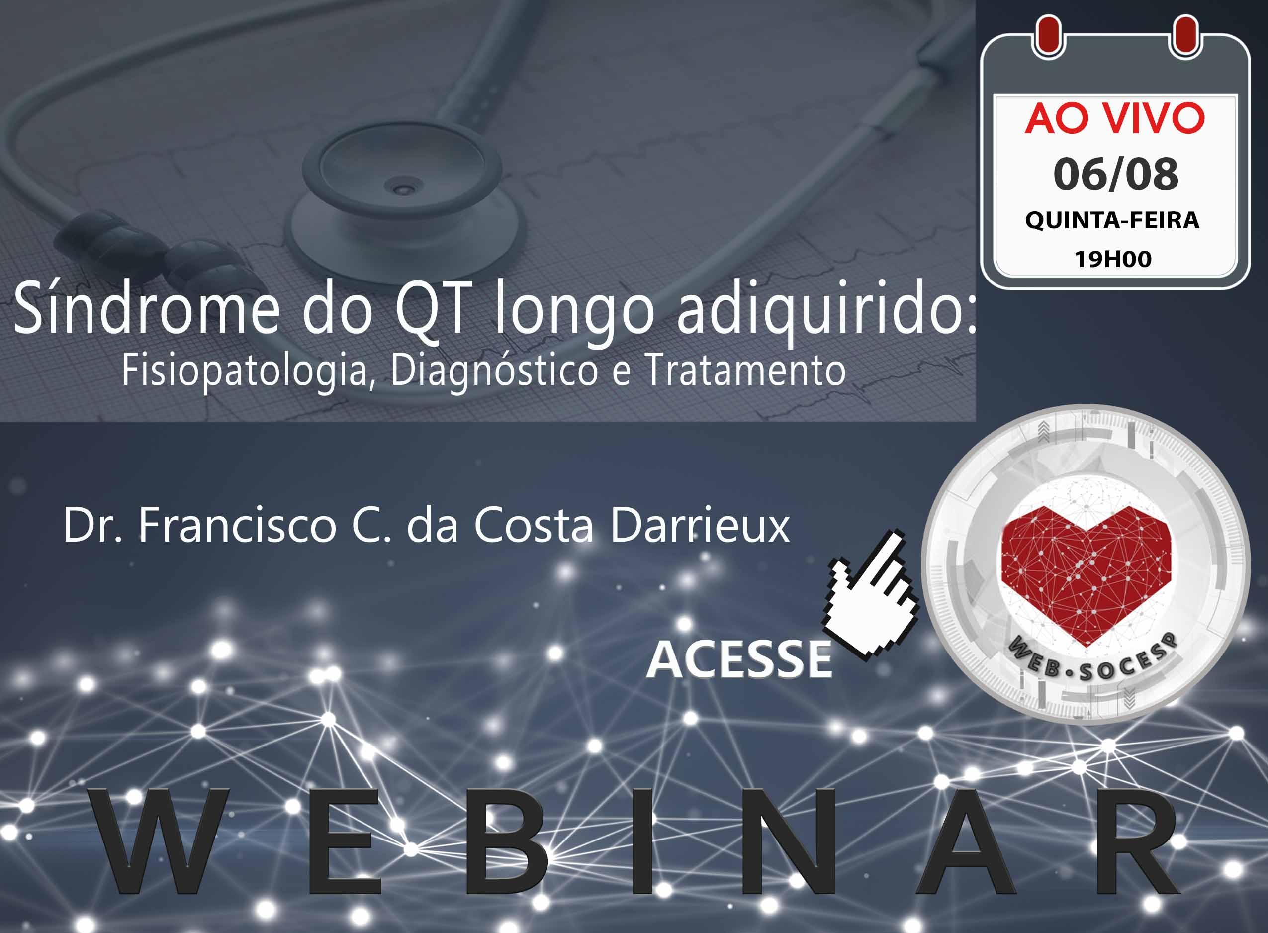 Imagem São José do Rio Preto - Síndrome do QT longo adquirido: fisiopatologia, diagnóstico e tratamento - Dr Francisco Carlos da Costa Darrieux