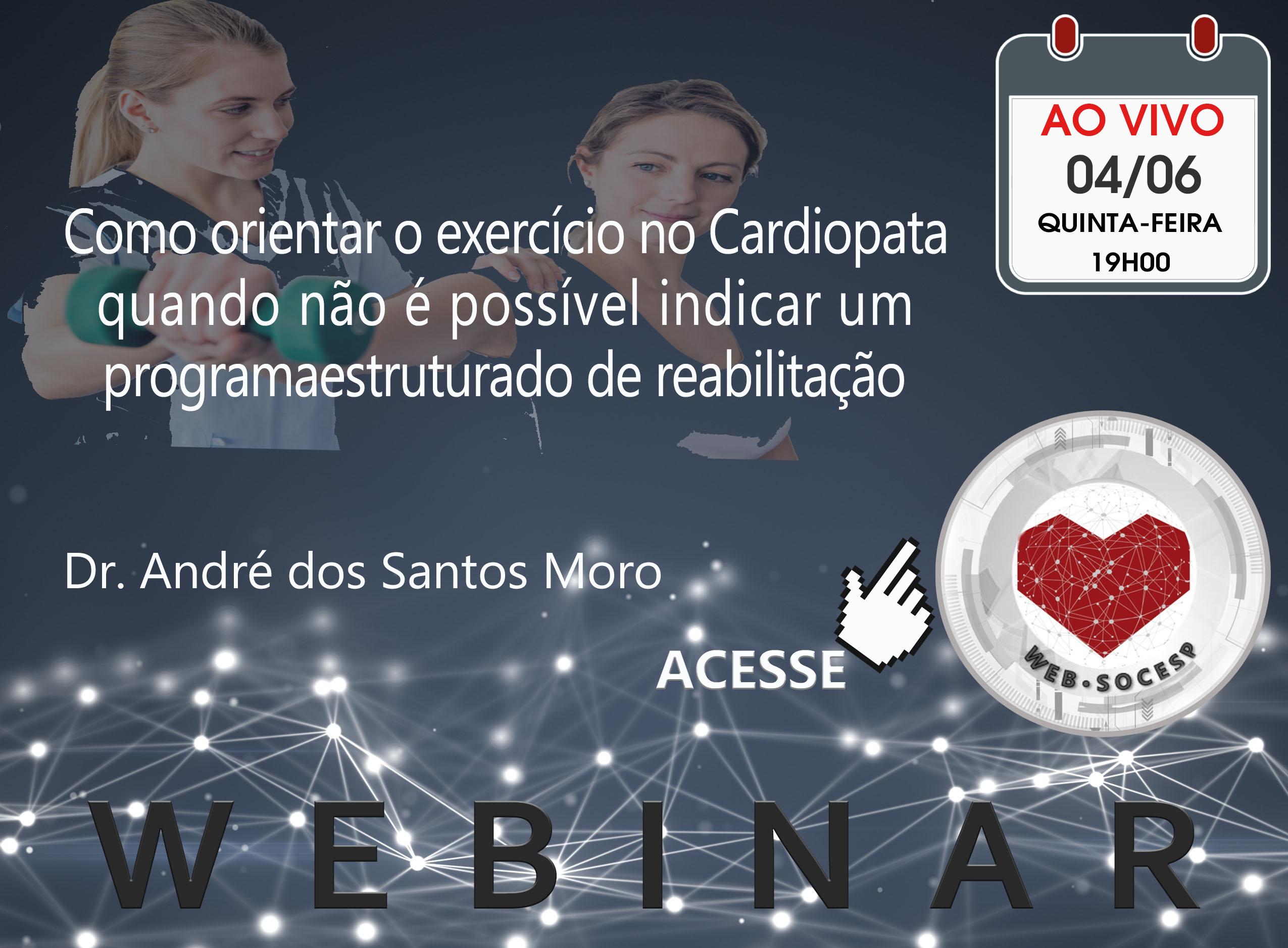 Imagem Araraquara - Como orientar o exercício no Cardiopata quando não é possível indicar um programa estruturado de reabilitação - Dr. André dos Santos Moro
