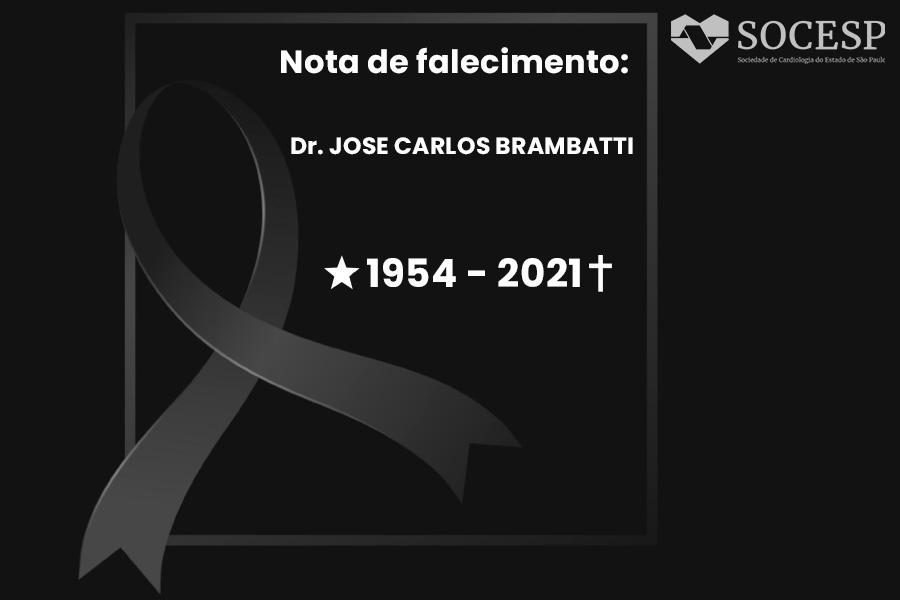 Imagem da notícia NOTA DE FALECIMENTO - DR. JOSÉ CARLOS BRAMBATTI
