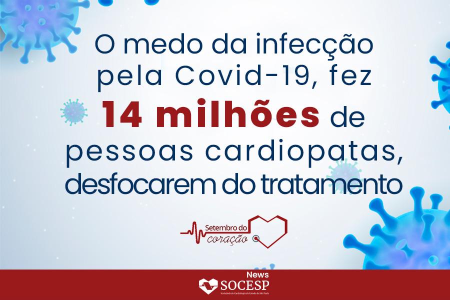 Imagem da notícia O MEDO DA INFECÇÃO PELA COVID-19 FEZ 14 MILHÕES DE PESSOAS CARDIOPATAS DESFOCAREM DO TRATAMENTO
