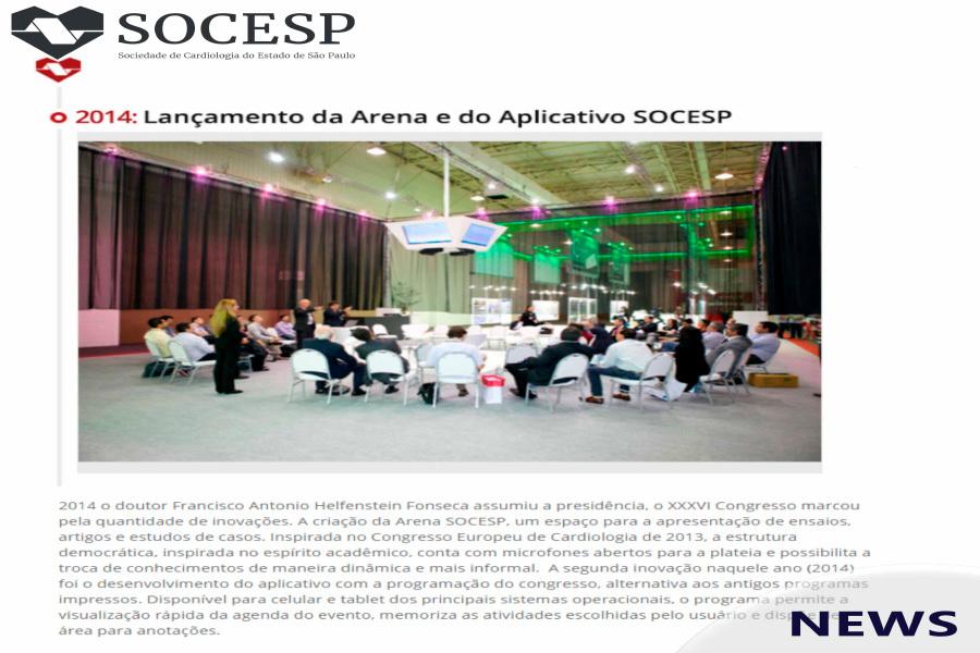Imagem da notícia EM 2014, FOI INAUGURADA A ARENA SOCESP, UM ESPAÇO INFORMAL PARA A APRESENTAÇÃO DE ENSAIOS, ARTIGOS E ESTUDOS DE CASOS