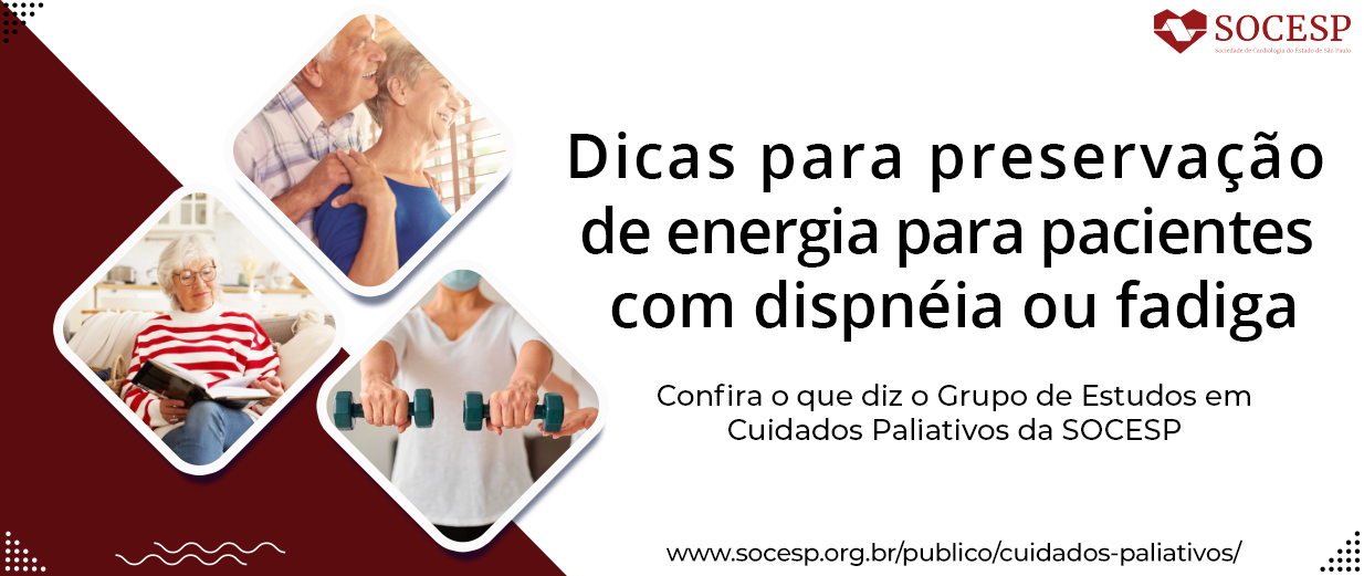 Dicas para preservação de energia para pacientes com dispnéia ou fadiga