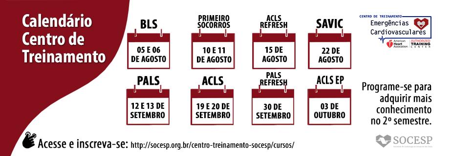 Calendário Centro de Treinamento 2020